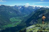 View of Norwegian mountains